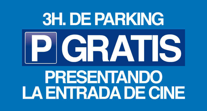 Con tu entrada, 3 horas de parking gratuito