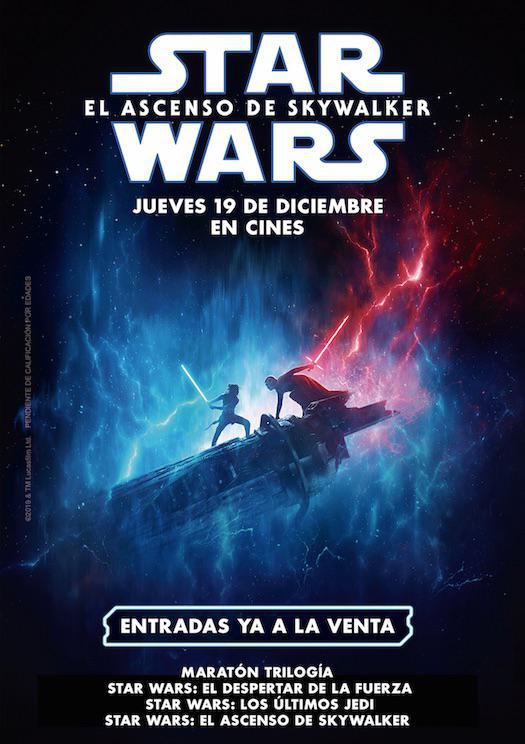 Maratón Star Wars (Episodios VII, VIII y IX)